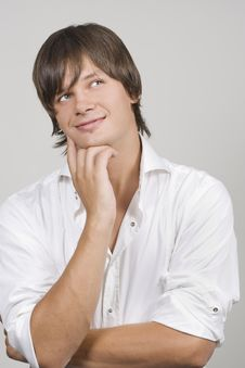 Free Handsome Young Man Thinking Stock Photography - 15476232