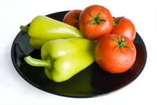 Peppers And Tomatoes Stock Images