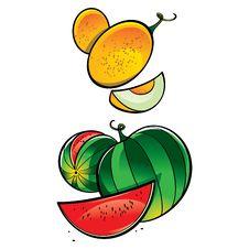 Melon And Watermelon Royalty Free Stock Photo