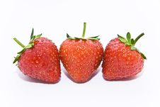 Free Three Strawberries Stock Photos - 15477533