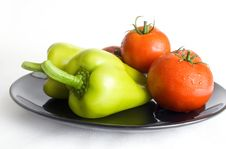 Free Peppers And Tomatoes Royalty Free Stock Image - 15478036