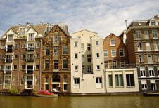 Free Amsterdam, Netherlands, Channel Houses Royalty Free Stock Image - 15478266