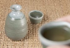 Free A Pottery Tea Set With One Cup Up Stock Photos - 15478903