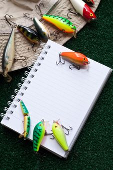 Free Fishing Note Royalty Free Stock Photography - 15479057