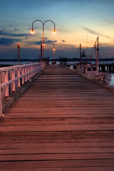 Free Jetty In Sunset Royalty Free Stock Photo - 15479395