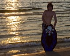 Free Silouette Young Teen Boarding Royalty Free Stock Photo - 15479725