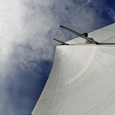 Free Sailing Against The Sky. Stock Image - 15479901