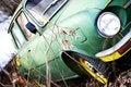 Free Retro Russian Green Car Stock Photos - 15487403