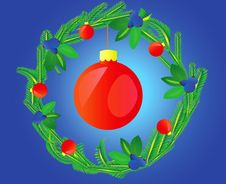 Free Wreath Decorated Varicoloured Ball Stock Images - 15480114