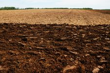 Free Plowed Field. Stock Images - 15481064