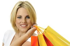 Free Blonde Shopper Royalty Free Stock Photography - 15481217