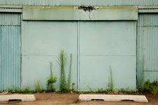 Free Large Door To An Abandoned Factory Stock Photos - 15481343