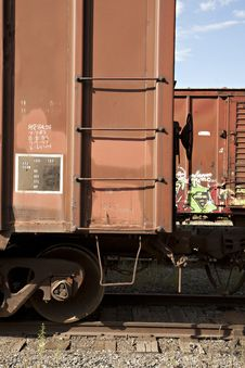 Free Freight Train With Graffiti Stock Image - 15481361