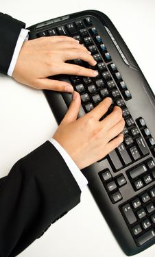 Free Working On Computer Royalty Free Stock Photos - 15485108