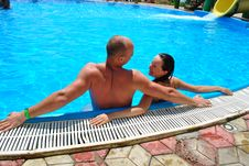 Free Couple In The Pool Stock Image - 15485211