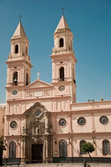 Free Church Of San Antonio, Cadiz Royalty Free Stock Photo - 15486505