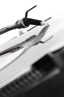 Free Turntable Playing The Record Royalty Free Stock Photos - 15486608