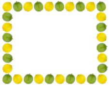 Free Lemon And Lime Border Royalty Free Stock Photo - 15487195