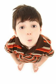 Free Adorable Boy Looking Up Royalty Free Stock Photos - 15487198