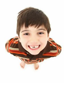 Free Adorable Boy Looking Up Stock Image - 15487201