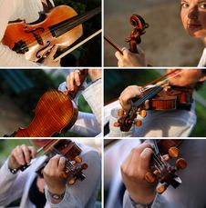 Free Violinist With Her Violin Royalty Free Stock Photos - 15487718