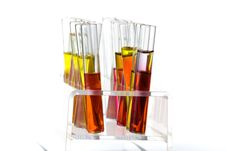 Free Rack With Test Tubes Of Colored Liquid Royalty Free Stock Image - 15487776