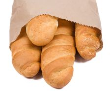 Free Bread In Paper Packet Royalty Free Stock Photos - 15487808