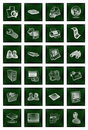 Free Icons Buttons Set In Green Royalty Free Stock Photos - 15492198