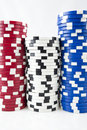 Free Poker Chips On White Stock Image - 15494651