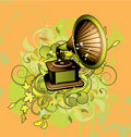 Free Abstract With Gramophone Stock Images - 15497304