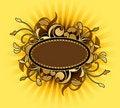 Free Retro Frame With Design Elements Royalty Free Stock Photos - 15499128