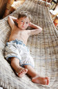 Free Boy Relaxing In Hammock Royalty Free Stock Photography - 15499927