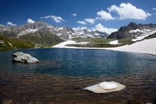 Free Mountain Lake With Ice Stock Photos - 15490893