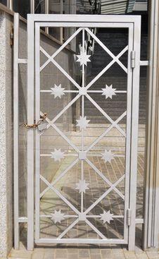 Metal Door And The Lock Royalty Free Stock Photos