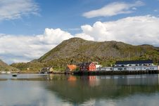 Free The Norwegian Village Skrova On Lofoten Islands Royalty Free Stock Photos - 15491228