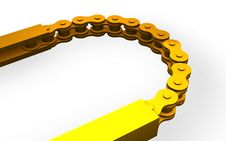 Free Golden Bicycle Chain Stock Photography - 15491312