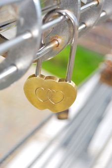Free The Golden Lock Stock Photography - 15491372
