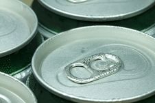 Free Top Side Of A Aluminum Can With An Opener Royalty Free Stock Image - 15491806