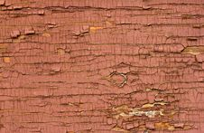 Old Red Oil Painted Wood Surface. Stock Photography