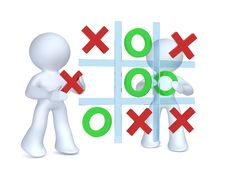 Free Playing Tic Tac Toe Royalty Free Stock Image - 15494206