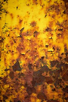 Free Weathered Crusted Chipped Paint On Metal Stock Photography - 15494312