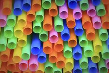 Abstract Background From Colorful Plastic Straws Stock Photography
