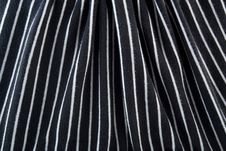 Free Black & White Striped Fabric Stock Photography - 15494522