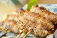 Free Delicious Skewered Chicken Royalty Free Stock Photos - 15494898