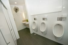 Modern Toilet And Lavatory Stock Photography