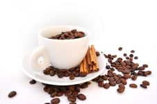 Free Cup Of Coffee With Cinnamon Stock Images - 15495324