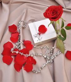 Free Red Rose And Gift Royalty Free Stock Images - 15495409