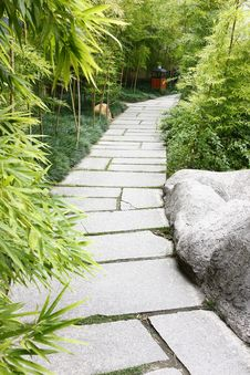 A Stone Walkway Stock Photography