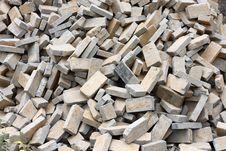 Pile Of Gray Bricks Royalty Free Stock Photos