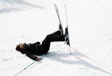 Free Girl Skiing Stock Photography - 15496622
